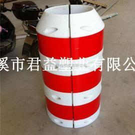 电杆防撞桶,塑料防撞桶,滚塑防撞桶加工