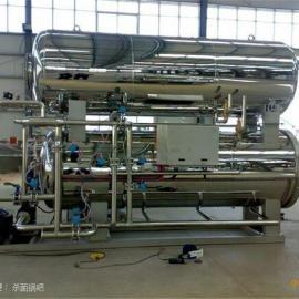 鼎力厂家直销900型不锈钢高温高压喷淋水浴卧式杀菌锅
