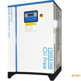 实验室医药无油静音 尚埃动力UW33kw无油涡旋空压机