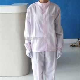 青岛美安服饰粉色立领防静电分体服