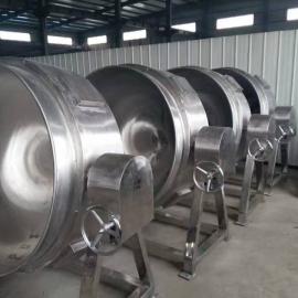 厂家热销不锈钢食堂专用电汽两用炒锅固定立式