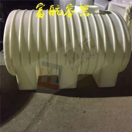 带阀门车载2吨卧式储罐2立方PE水箱白色纯原料