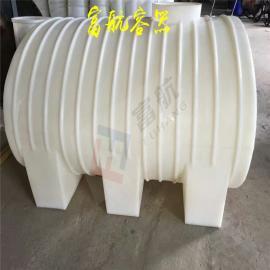 聚乙烯一体成型3吨卧式塑料桶3立方车载运输罐带阀门