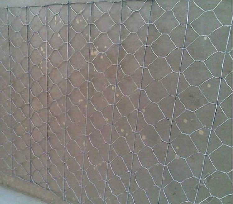 沥青路面骨架铺钢丝网/六角绞合加筋钢丝网/机编护网