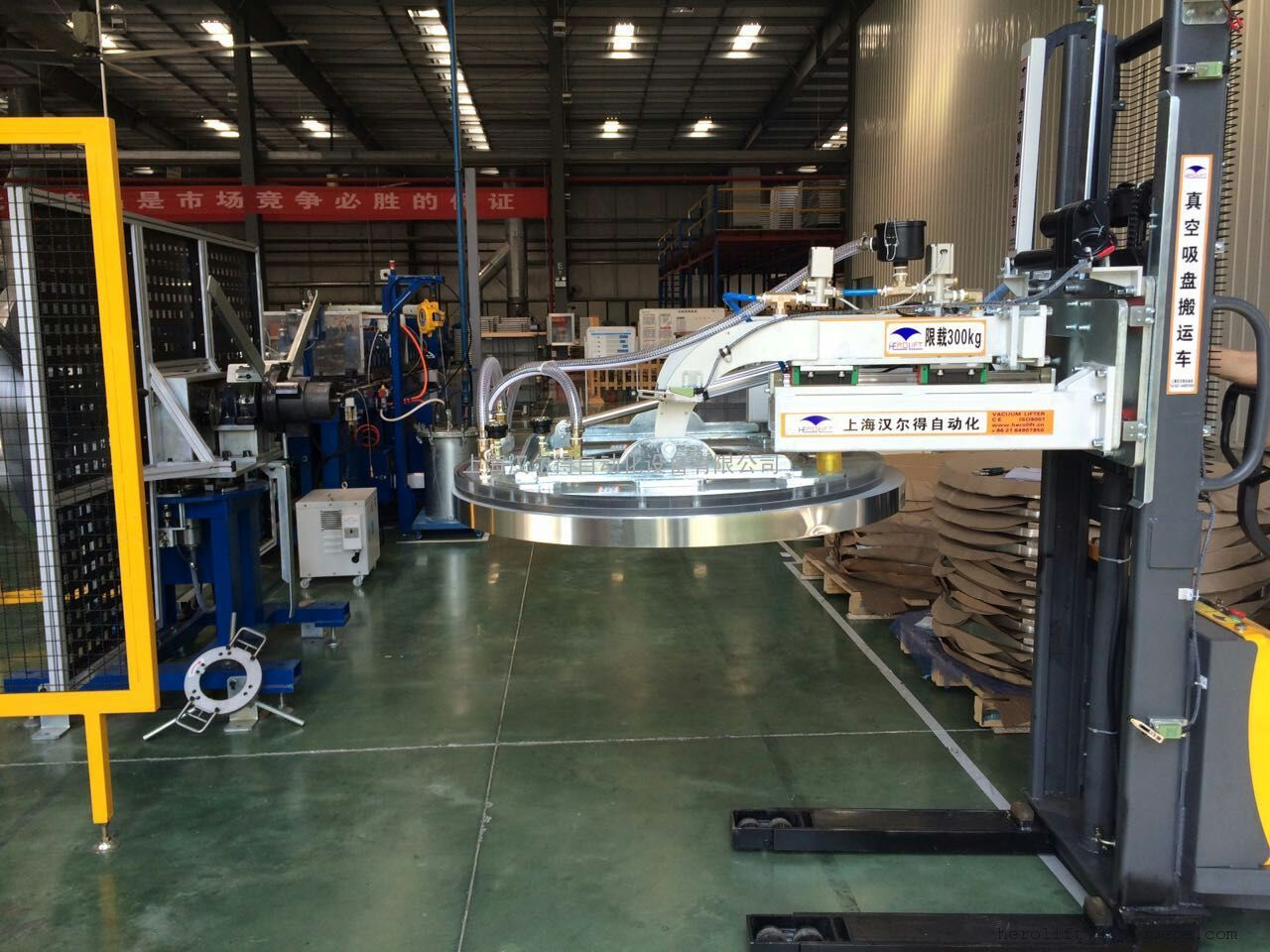 汽车散热器行业铝卷翅片机上料吸盘、铝卷吊具、电动吸盘搬运车
