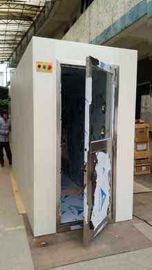 科来创供应1200-3型外冷内不锈钢风淋室 90度自动门多人双吹人淋&