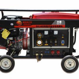 移动式本田发电电焊机,350a发电电焊一体机