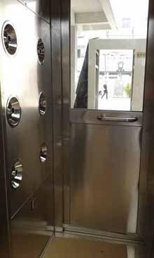 广州转角风淋室、不锈钢拐角双人双吹风淋室订做