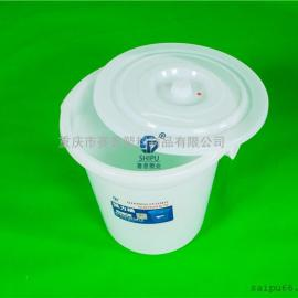 塑料水桶工厂60L塑料圆形带盖水桶