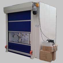 科来创供应2000-3型自动PVC卷帘门中型双吹货淋室