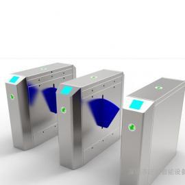 智能翼闸 不锈钢小区人行通道闸机 工地双向进出刷卡翼闸