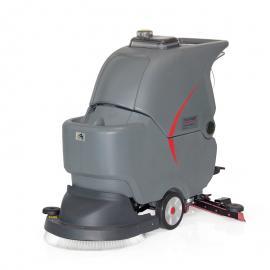 医院用超静音洗地机 高美手推式静音型洗地擦地机 洗地车