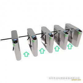 出入口通道闸机三辊闸门禁考勤系统桥式三棍闸机LED工地人数