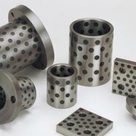 钢基镶嵌自润滑轴承/固体镶嵌石墨铸铁套/无油钢套加工定制