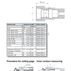 HSK主轴内锥检测量具 95.601.332.3.2