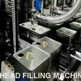 三头液面下全自动液体称重灌装机 定量灌装系统厂家