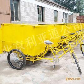 厂家定做铁板环卫垃圾车玻璃钢不锈钢保洁车、人力脚蹬三轮清运车