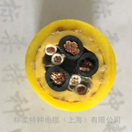 上海标柔PUR耐弯曲凯夫拉双层聚氨酯卷筒电缆