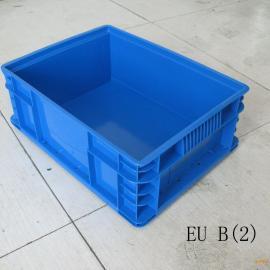 上海大众带盖蓝色周转箱 QSUB塑料物流箱