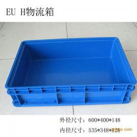 上海蓝色带盖物流箱QSUH塑料周转箱