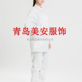 泰安美安服饰白色短边防静电大褂厂家直销