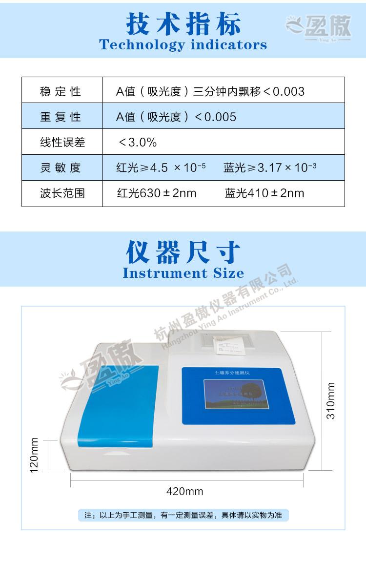 盈傲土壤养分速测仪 氮磷钾含量快速测设备配方指导仪器图片_6