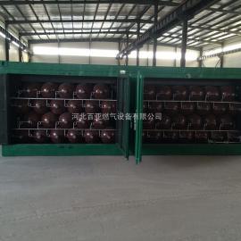 供应百亚燃气压缩天然气储气瓶组 50瓶组CNG集装格