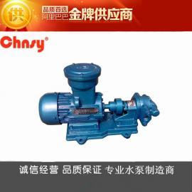 KCB、2CY防爆齿轮泵/铜齿轮油泵/防爆油泵(EXDIIBT4)