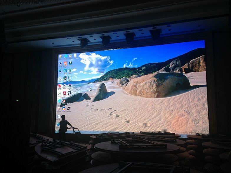 宴会厅舞台P3全彩屏效果 18平米P3LED电子屏包安装多少钱