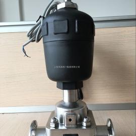 上海风雷卫生级气动隔膜阀FG641F食品药品操作阀