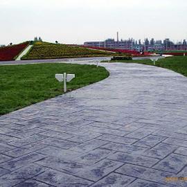 艺术压膜路面 混凝土压膜地坪 混凝土压膜路面
