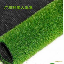 时宽人造草坪休闲装饰 人工草皮高品质C型曲直PE材质加密三色假草