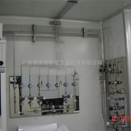 广东实验室集中供气不锈钢管道减压器汇流排球阀针阀安装
