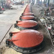 铸铁拍门DN400 浮箱拍门价格 配重拍门报价