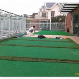 军绿色人造草,10MM高人工草,高密度塑料休闲装饰草