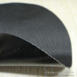 耐酸碱耐寒黑色橡胶夹网布工业防护罩面料