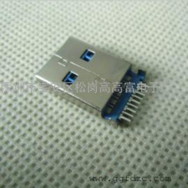 USB 3.0沉板1.9公头【两直脚DIP+9P贴片针】