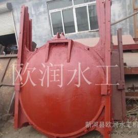 厂家销售铸铁圆形闸门,直径0.5米铸铁圆闸门