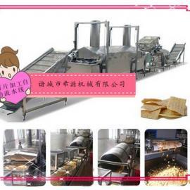 全自动薯片油炸机 |希源机械|油炸薯片生产线厂家
