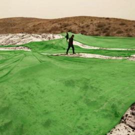 绿色覆盖防尘网