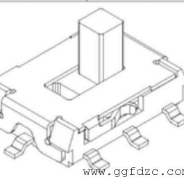 拨动开关8脚立式贴片―型号:KDS-K32776-VO