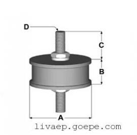 LRA橡胶式减震器,车载电子设备减震器,控制柜减震器