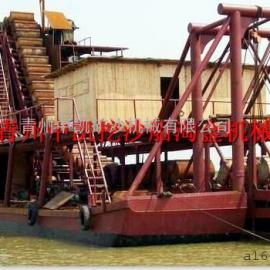 链斗式挖沙船、链斗式挖沙机、挖沙机、采砂船、挖沙船