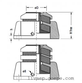 LG 钢丝阻尼减震器,风机减震器,水泵减震器