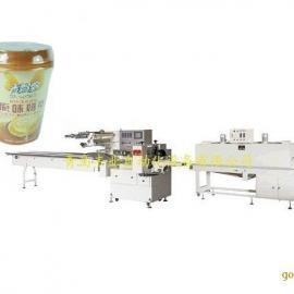 青岛丰业杯装奶茶热收缩膜全自动包装机