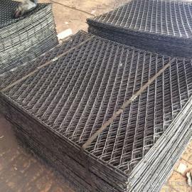 灵寿4×8公分网孔焊接菱形钢笆片-脚手架专用钢笆片做踏板
