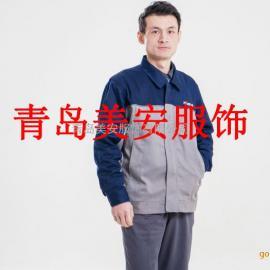 东营美安服饰灰蓝拼接皓驰防静电工作服源头厂家