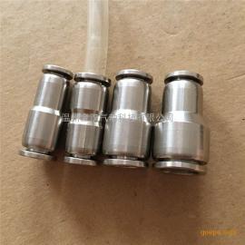 变异径直通PG8-6快速插特氟龙管金汉气动304不锈钢接头