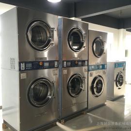 商用投币洗衣机,上烘干下洗涤双层洗衣机