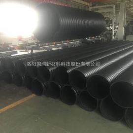 城市建设排污管 HDPE钢带波纹管
